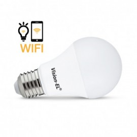 Ampoule LED E27 Connectée WIFI 9W 4000°K + Dimmable