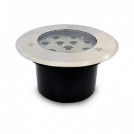 Spot LED Encastrable Sol Rond Inox Ø166MM 10W 230V 3000°K IP67