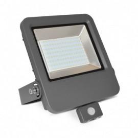 Projecteur Exterieur LED + Détecteur 100W 6000°K IP65 Gris