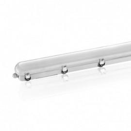 Boitier Etanche LED Intégrées traversant 3000°K 36W 3960 LM IP65 1220 x 92 mm