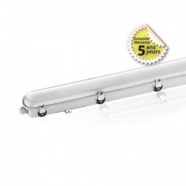 Boitier Étanche LED Intégrées traversant 4000°K 54W 6500LM IP65 1560 x 100 mm Garantie 5 ans