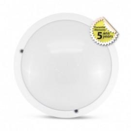 LED Hublot + Détecteur HF Ø300 18W 1980LM 4500°K IP65 Blanc Garantie 5 ans