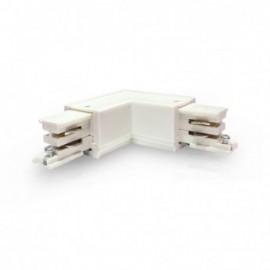 Connecteur Triphase Coude L Circuit Extérieur Blanc