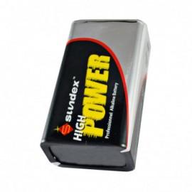 PILES LR61 9V X 1 SUPER ALCALINES 50-300 SUNDEX (x50)