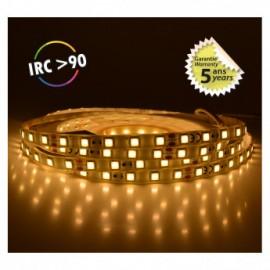 Bandeau LED 3000°K 5 m 60 LED/m 62W IP65 - 24V - GARANTIE 5 ANS