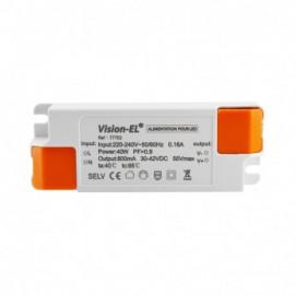 Alimentation pour LED CC 38W 50VDC 1050mA