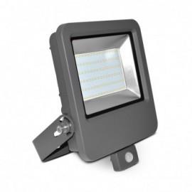 Projecteur Exterieur Plat LED Gris avec Détecteur 80W 3000°K