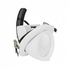 Spot LED Escargot Rond Inclinable et Orientable avec Alimentation Electronique 20W 3000K