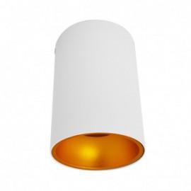 Support de Spot Saillie GU10 (sans ampoule) Cylindre Blanc / Doré
