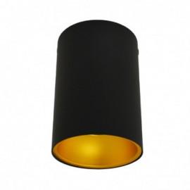 Support de Spot Saillie GU10 (sans ampoule) Cylindre Noir / Doré
