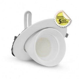 SPOT LED ESCARGOT ROND INCLINABLE ET ORIENTABLE BLANC 38W CCT