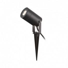 Projecteur Piquet Slim (sans ampoule) GU5.3 Noir IP65