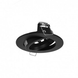 SUPPORT PLAFOND ROND 1/4 DE TOUR ORIENTABLE NOIR Ø95 MM