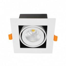 SPOT CARDAN LED BLANC ORIENTABLE 10 Watt 3000K 800 LM Boite