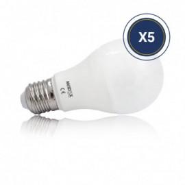 Ampoule LED E27 Bulb 6W 4000K Pack de 5