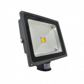 Projecteur Exterieur LED Gris avec Détecteur 50W 3000°K