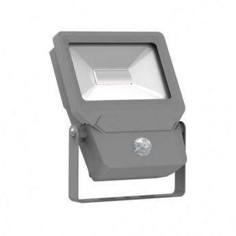 Projecteur Exterieur LED Plat Gris avec Détecteur 50W 3000°K