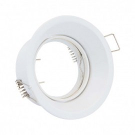 Support de spot basse luminance Rond Rotatif blanc Ø85 x 75 mm IP20