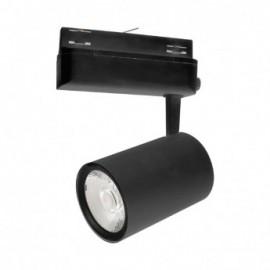 Spot LED sur Rail Noir 35W 3000°K 3025 LM + adaptateur rail 3 allumages