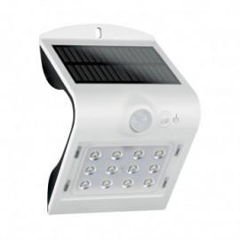 Applique Murale LED Solaire 1.5W 4000°K Blanc + Détecteur