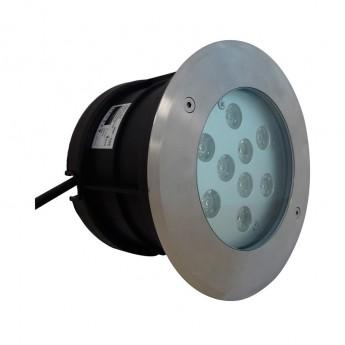 Spot LED Encastre Sol Rond Inox 9W